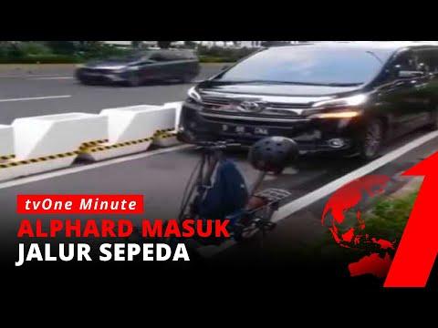 Waduh! Jalur Sepeda Baru Dibuat, Langsung Ada Mobil Terobos Masuk | TvOne Minute