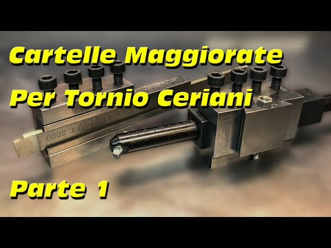 Realizzare  Cartelle Porta Utensili Maggiorate per Tornio Ceriani Parte 1