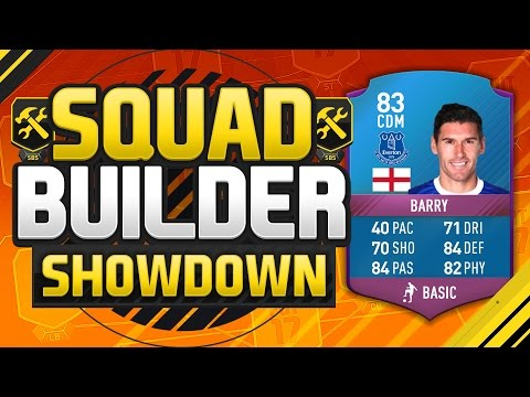 FIFA 17 SQUAD BUILDER SHOWDOWN!!! SPECIAL GARETH BARRY!!! Sq
