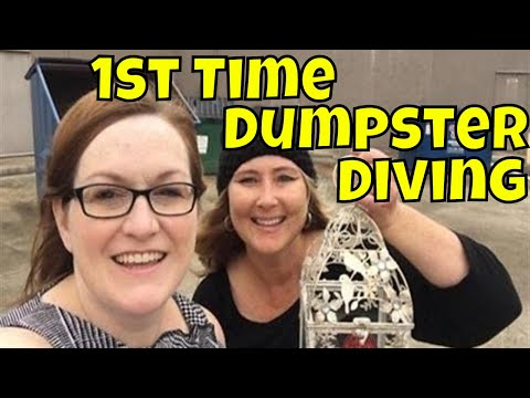 Our 1st Time Dumpster Diving Ride Along with Margaret & Tonya, Haul from Pier 1 to Resell