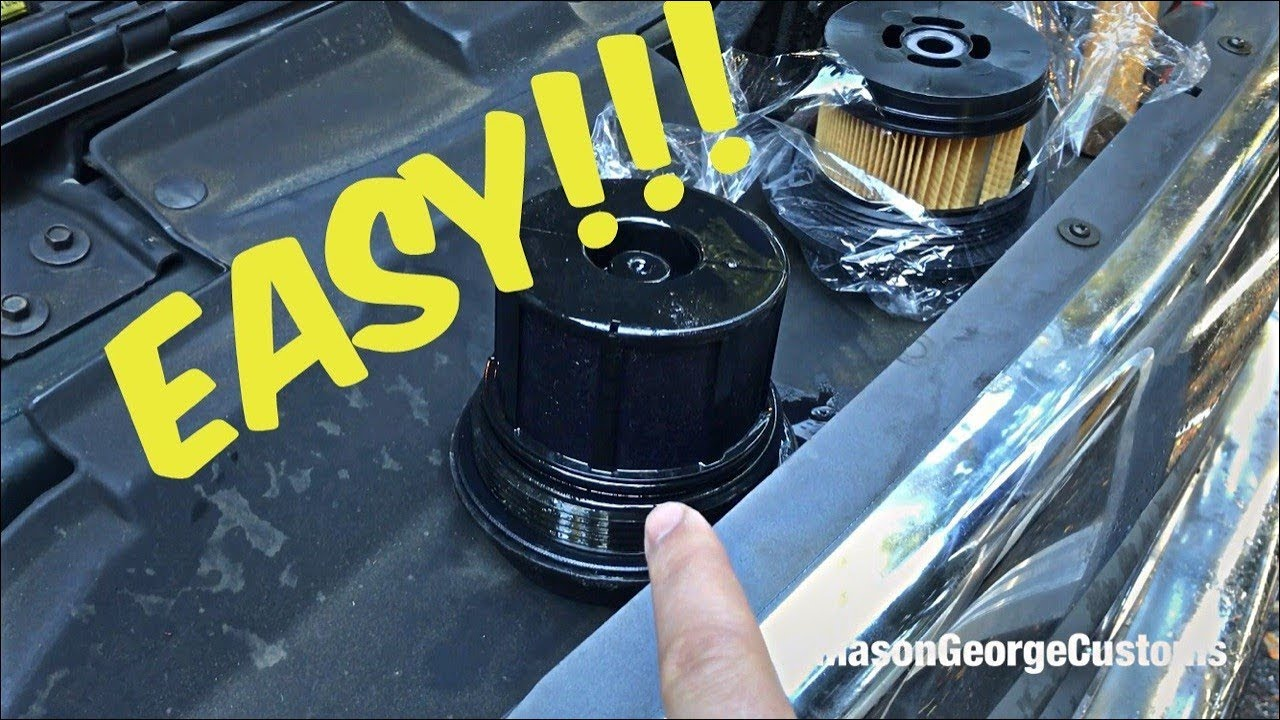 small resolution of quick ford 7 3 wix diesel fuel filter change how to