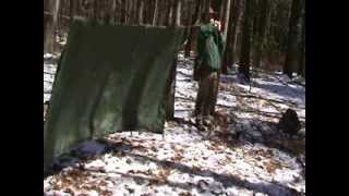 Tarp Shelters Part 3   Pup Tent