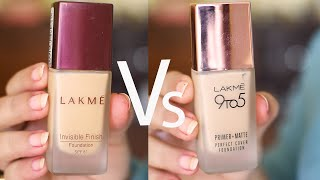 NEW Lakme PRIMER+ Matte VS Lakme INVISIBLE foundation!! honest review