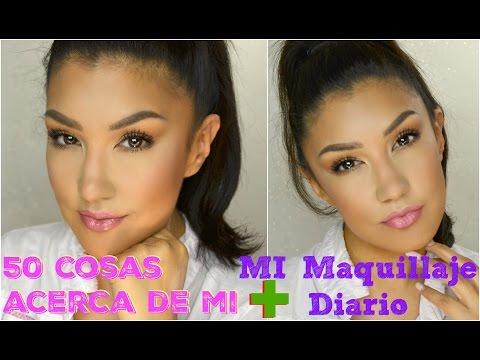 50 cosas acerca de mi + Maquillaje DIARIO @auroramakeup