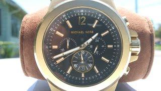 Authentic Matte Gold Michael Kors Chronograph Watch