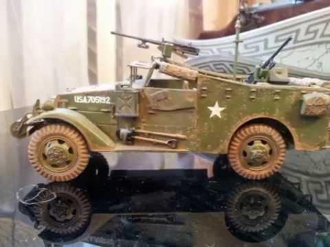 видео: М-3 Скаут от Звезды 1/35 (zvezda)  scout car m3a1