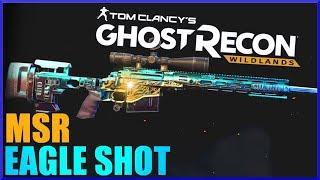 GHOST RECON WILDLANDS MSR Eagle Shot Bullet Drop Test