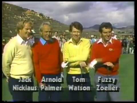 Golf - PGA - 1985 Skins Game - Back 9 - Jack Nicklaus & Arnold Palmer & Tom Watson & Fuzzy Zoeller