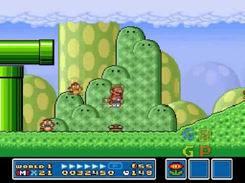 Super Mario Bros 3, 99 Lives Trick World 1 Stage 2