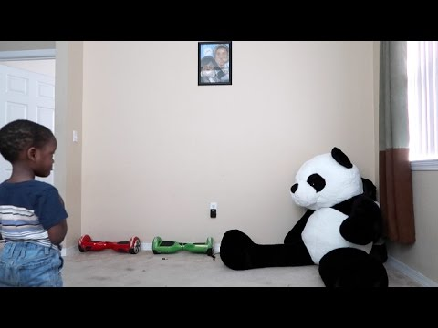 Moving Bear Prank On 3yr Old