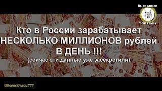 Кто в России зарабатывает МИЛЛИОНЫ рублей В ДЕНЬ ! (сейчас эти данные уже засекретили)