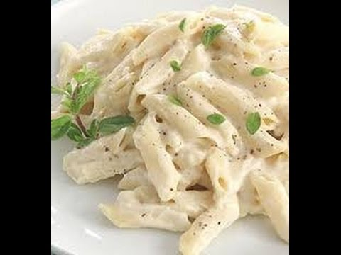 Recipe of pasta in white sauce