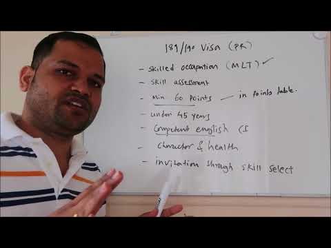 189 and 190 PR visa australia    Eligibility criteria for Skilled PR visa   Work Permit Visa
