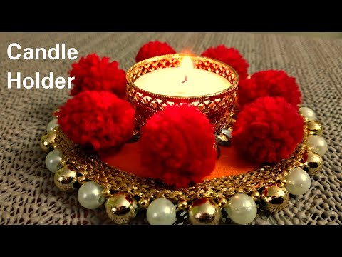 Diwali decoration।diwali special candle holder DIY(diya stand for diwali)दीवाली 2018