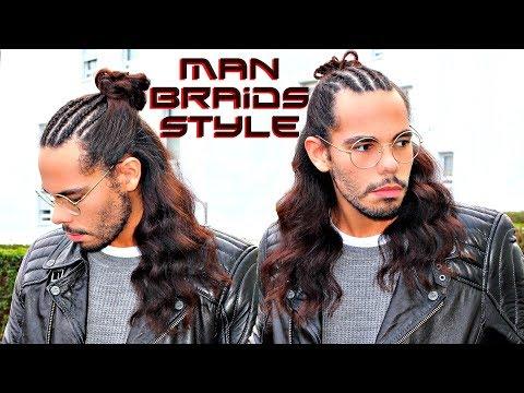 MAN BRAIDS Frisuren Trend 2018 Für Männer Mit Langen Haaren Tutorial