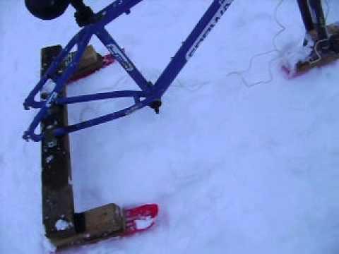 Снегоход из бензопилы и снегоката - Pikabu 46