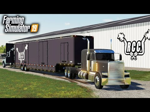 FS19- RCC's NEW CUSTOM SEMI & 53FT TRAILER! (CAR TRANSPORT TRAILER) thumbnail