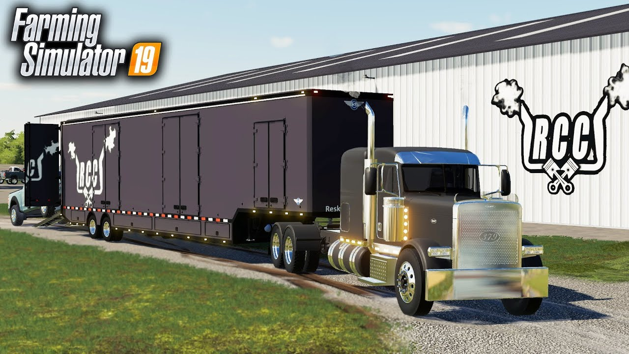 FS19- RCC's NEW CUSTOM SEMI & 53FT TRAILER! (CAR TRANSPORT TRAILER)