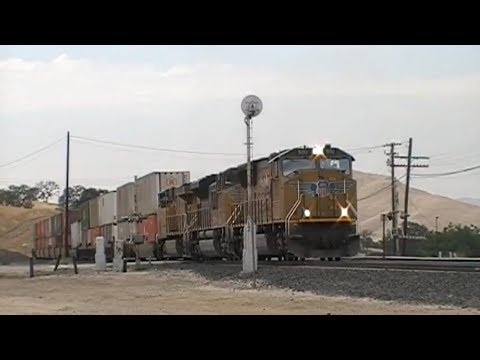 Union Pacific Intermodal With SD70M, SD70ACe, And ES44AC At Bealville, CA