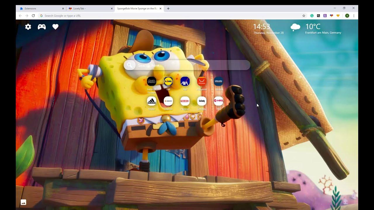 Spongebob Movie Sponge On The Run Wallpapers Chrome New Tab Youtube