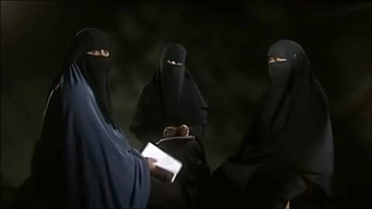 Image result for 3 muslim women veiled with 1 muslim man