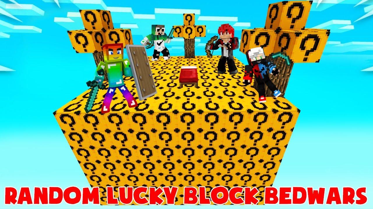 MINI GAME : RANDOMIZED LUCKY BLOCK BEDWARS ** THỬ THÁCH T GAMING CHIẾN THẮNG PIXEL - VANH VÀ ZENO