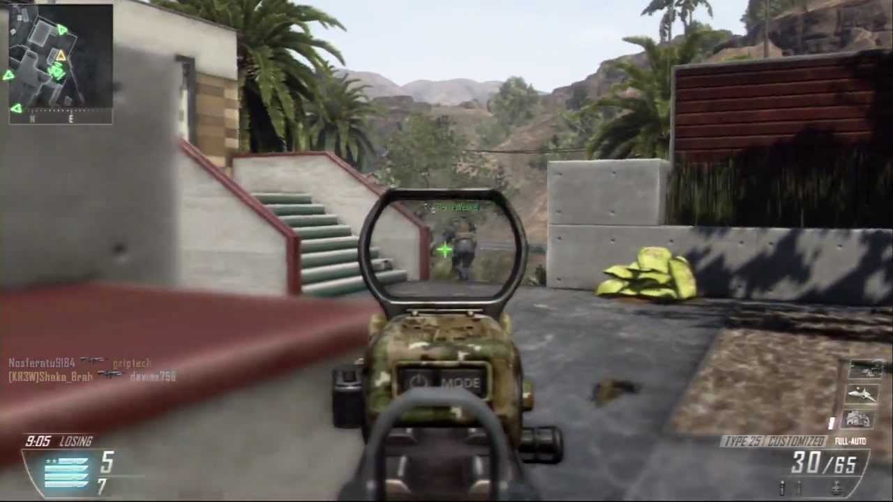 Call of Duty Black Ops 2 Team Deathmatch on Raid PS3 Gameplay