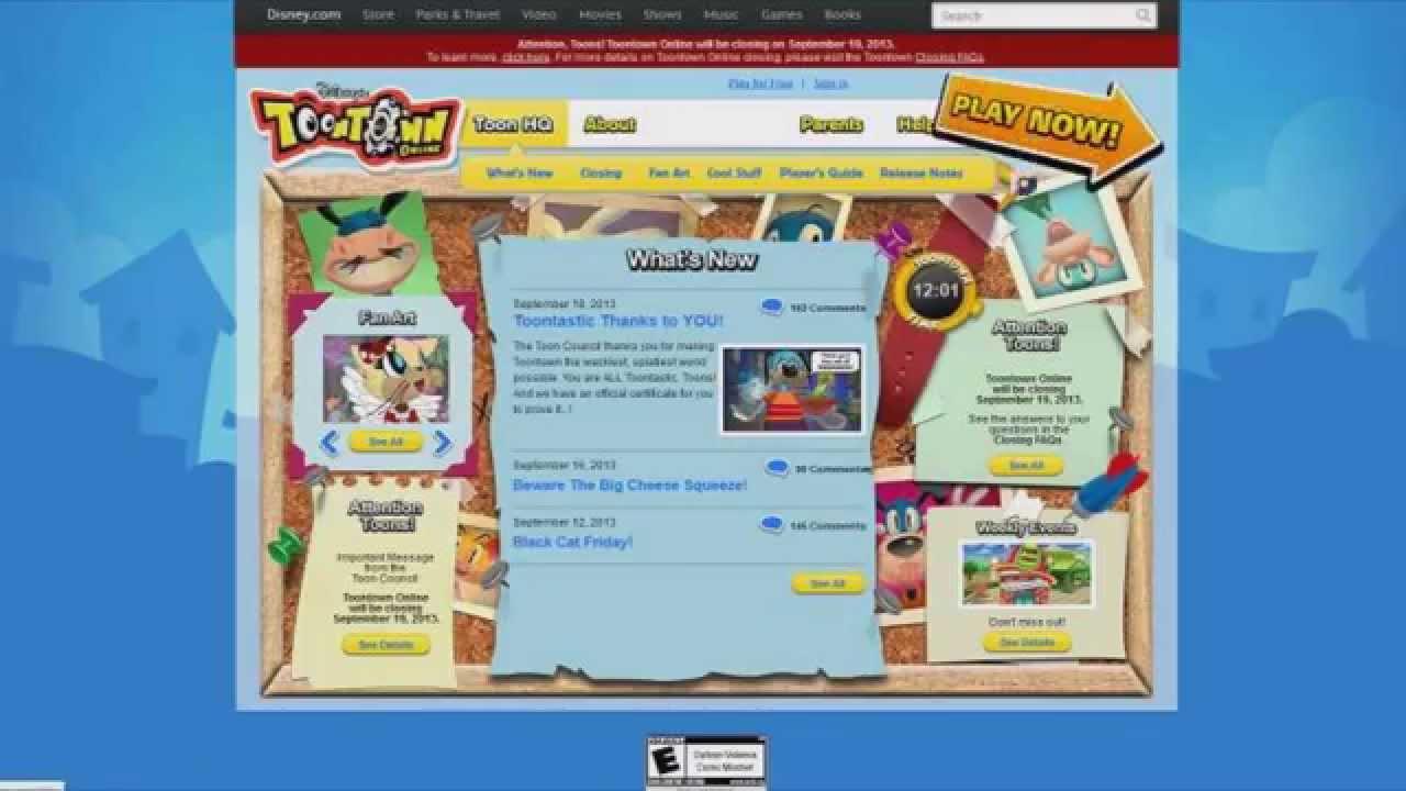 play toontown free online