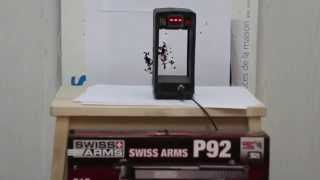 Увеличение мощности  Swiss Arms P 92 . Gletcher BRT 92FS auto пневматический пистолет