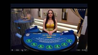 Live Online Blackjack #4 - High Stakes and some nice hits. 300% profit.