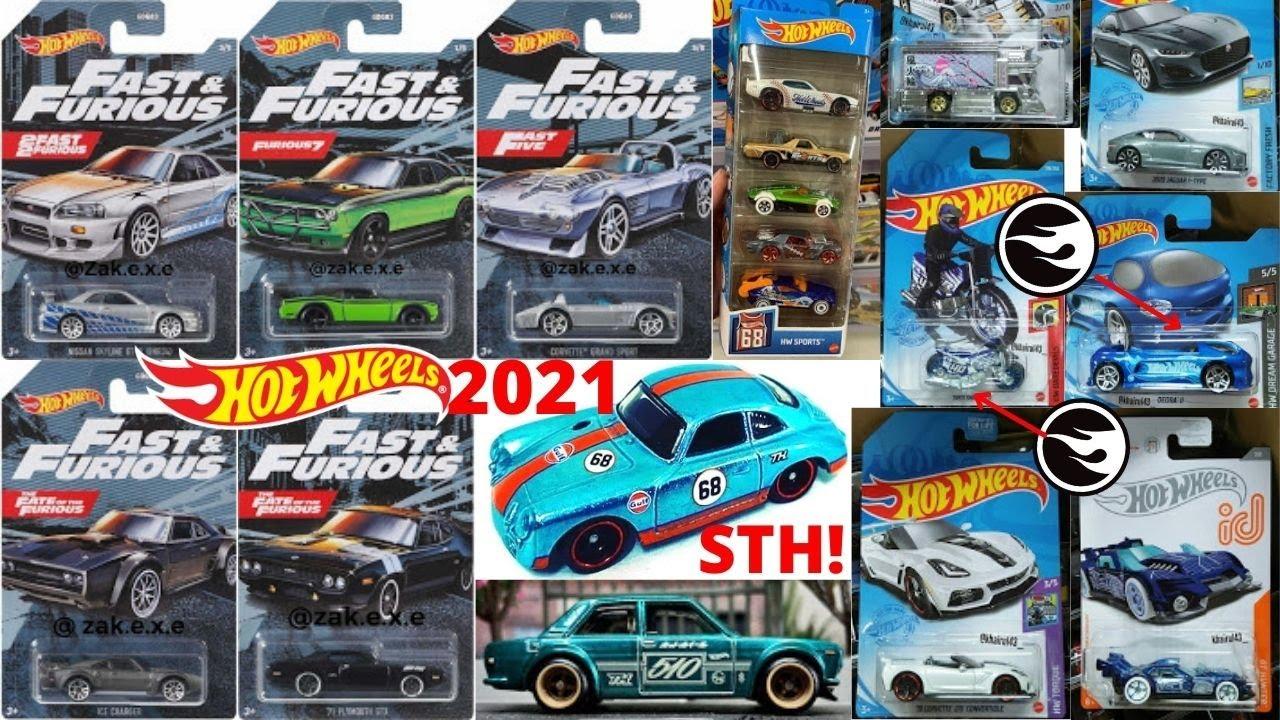Hot Wheels 2021 Super Treasure Hunts, Treasure Hunts, Fast & Furious Serie, Mainline Cars, ID Ca