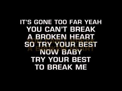 Kate Voegele - You Can't Break A Broken Heart (Karaoke)