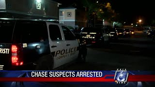 Police chase lands two in jail