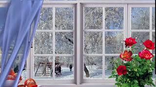 А за окном зима... зима -  Футаж для видеомонтажа в Full HD(1080)