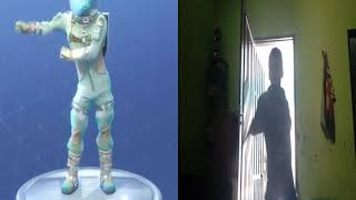 Dança do fortnite o fio dental the floss parte 2 vida real vs fortnite