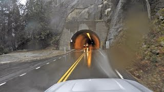 Yosemite: Towing A Travel Trailer Through Wawona Tunnel Into Yosemite National Park