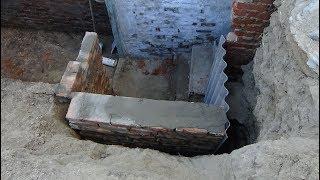 Ремонт погреба ч № 2 ,делаем стенку.