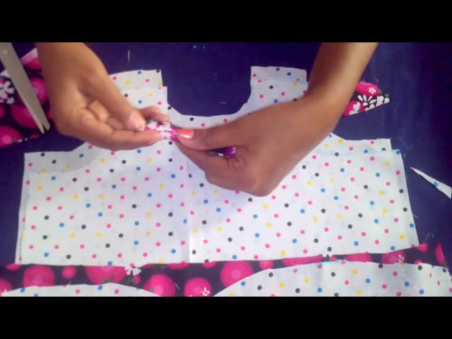 Simple FROCK Cutting KIDS umbrella SKIRT CUTTING AND STITCHING