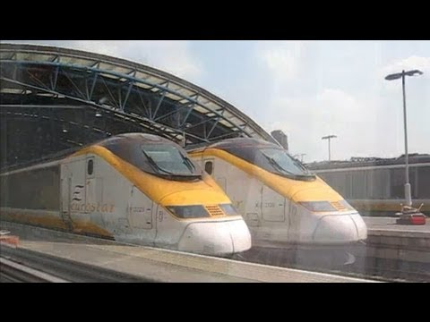 UK: Leaving London Waterloo International station (closed) on Eurostar train to Paris Gare du Nord