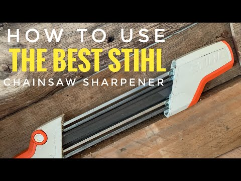 How To Use The Best And Easiest Stihl 2 In 1 Chainsaw Sharpener