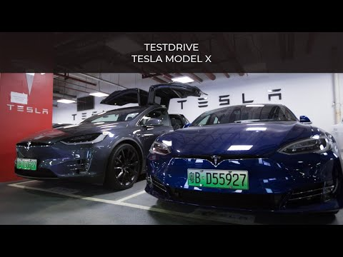 TESTDRIVE Tesla Model X in ShenZhen !!! #SUTD Entrepreneurship Trip