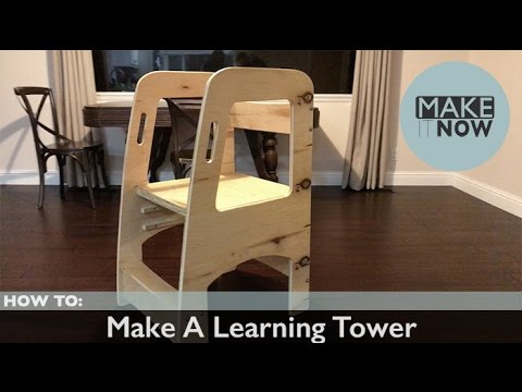 chair step stool small bedroom or how to: make a learning tower - youtube