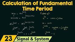 Calculation of Fundamental Period