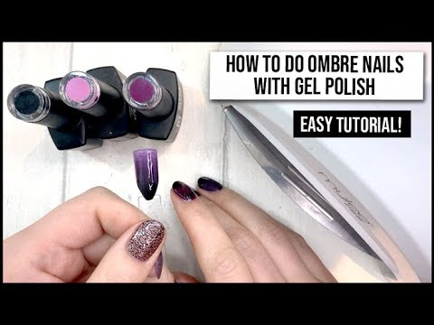 How to Do an Ombre Fade with Gel Polish - Fast & Easy Tutorial - xameliax - 동영상
