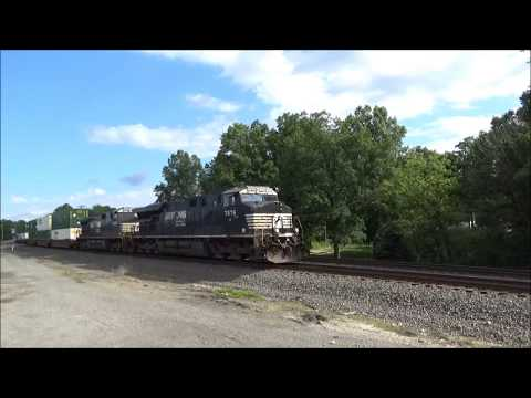Ravenna OH June 2017 - NS Nickel Plate Road Heritage ES44AC #8100 On 25V - K5HL Hornshow from YouTube · High Definition · Duration:  2 minutes 47 seconds  · 49 views · uploaded on 6/27/2017 · uploaded by Corner Field Hobby Railfan