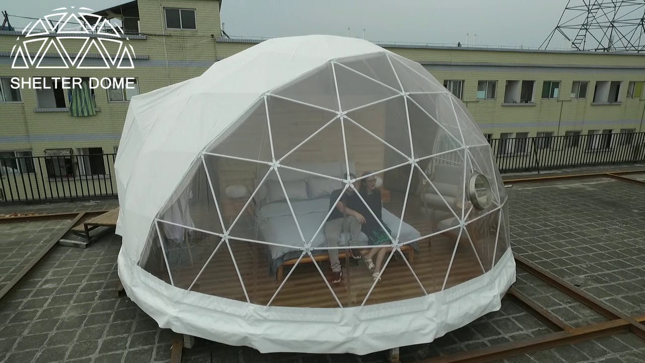 6m Diameter Well Equipped Glamping Dome Hotel Igloo