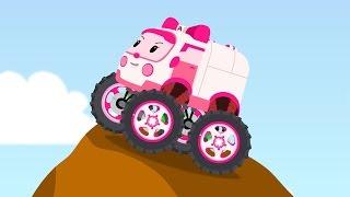 Amber Robocar Big Wheels Mini Cartoon