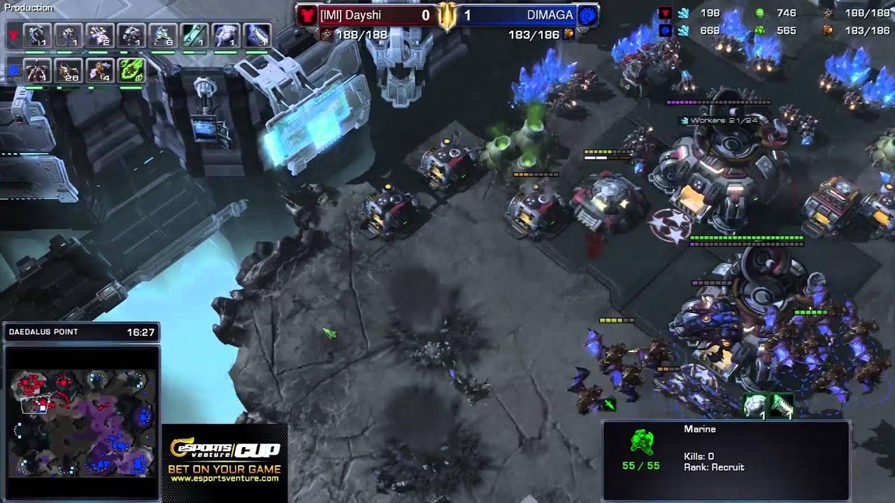 Dimaga vs. Dayshi - ZvT - Game 2 - StarCraft 2