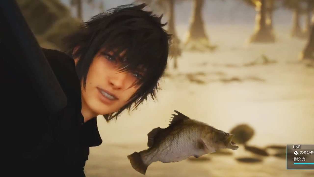 Final fantasy 15 gameplay ff xv chocobo riding and for Final fantasy 15 fishing guide