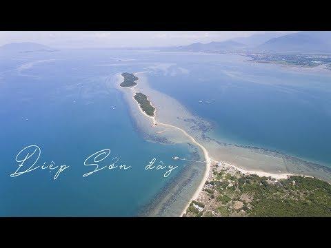 Con Đường Đi Bộ Trên Mặt Biển Đảo Điệp Sơn Nha Trang Khánh Hòa - Diep Son Island from above